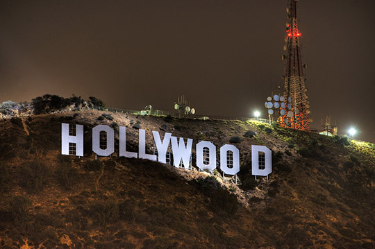 hollywood night sign signs business awareness increase