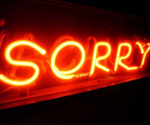 Apologize and What is the best kind of sign?